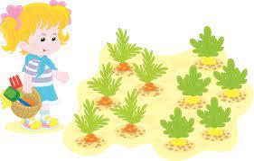 Dziewczyna W Ogród Warzywny - Stockowe grafiki wektorowe i więcej obrazów  Dowcip rysunkowy - iStock